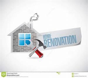 Home Renovation Symbol Illustration Design Stock Image