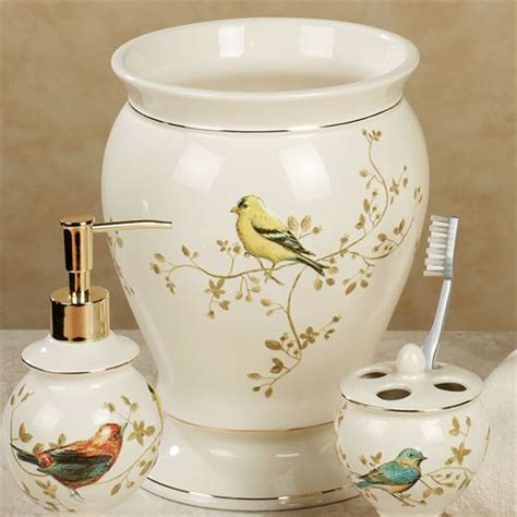 Bird Bathroom Decor 2017  Grasscloth Wallpaper