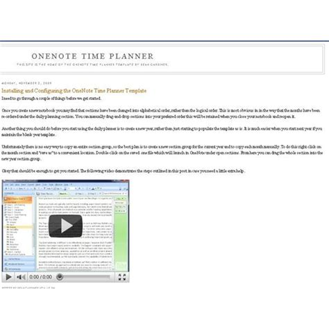 onenote daily planner template planner template