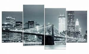 Bilder Set 4 Teilig : wandbild 4 teilig new york brooklyn bridge usa amerika bild leinwand kaufen bei living by design ~ Orissabook.com Haus und Dekorationen