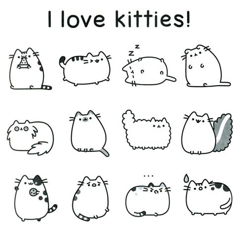Pusheen Cat Printable Coloring Pages