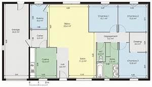 Maison plain pied 1 Détail du plan de Maison plain pied 1 Faire construire sa maison