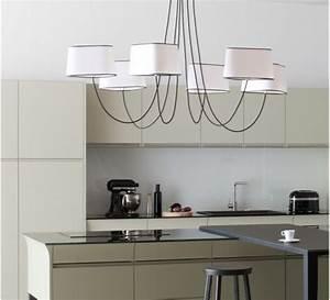 Grand Lustre Design : grand lustre design noir dry wired ~ Melissatoandfro.com Idées de Décoration