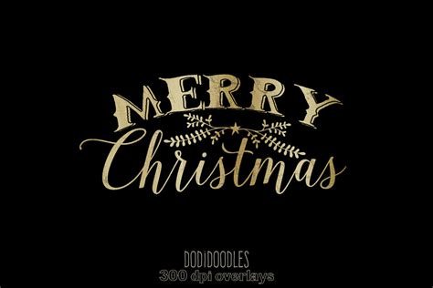 merry christmas photoshop overlay gold christmas photoshop overlays graphics creative market