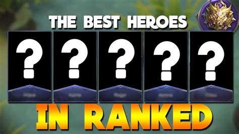 mythic mobile legend top 5 best heroes in ranked mobile legends mythic
