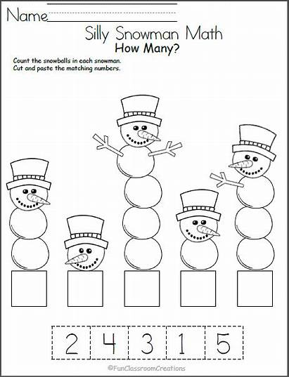 Winter Math Worksheets Preschool Number Recognition Worksheet