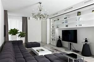 Deco Salon Blanc Et Gris : 79 id es d co salon tr s int ressantes et modernes pour ~ Zukunftsfamilie.com Idées de Décoration