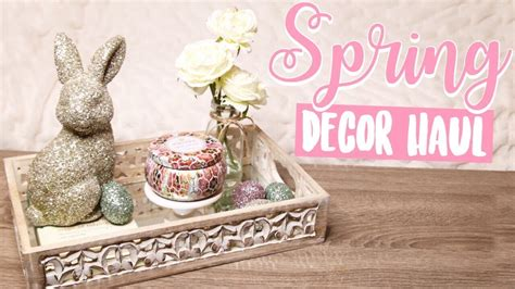 Easter Home Decor Styling: Spring Easter Home Decor Haul! Rustic Glam
