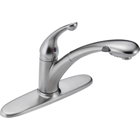 delta faucets for kitchen delta faucet 470 ar dst signature arctic stainless pullout