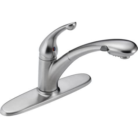commercial kitchen faucet sprayer delta faucet 470 ar dst signature arctic stainless pullout