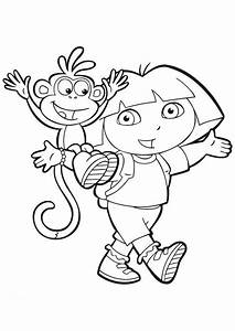 Coloring Pages Dora The Explorer Free Coloring Pages - Globalchin ...