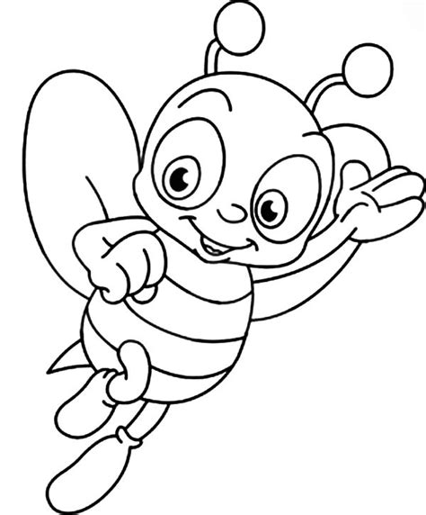 bee coloring page honey bee outline coloring pages coloring sky