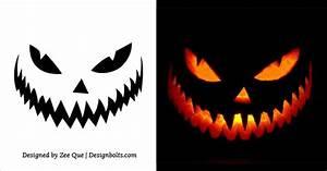 10, Free, Printable, Scary, Halloween, Pumpkin, Carving, Patterns, Stencils, U0026, Ideas, 2017, U2013, Designbolts