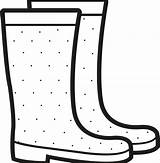 Rain Boots Coloring Printable Duck Clipart Stivali Colorare Disegni Pinclipart Transparent Automatically Start sketch template