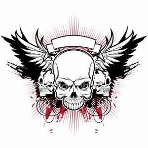 Ist Three Skull Wings | Free Images at Clker.com - vector ...