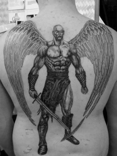 Dark angel crying tattoo, outer forearm hurts, warrior