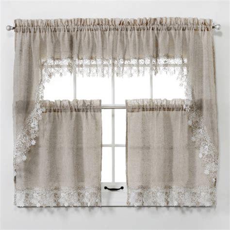 lillian macrame trim tier curtain altmeyers bedbathhome