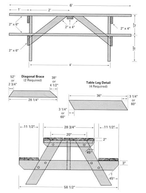 free picnic table plans free picnic table woodworking plans classic style