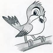 How To Draw Cartoon Bird  Simple Drawing In Pencil