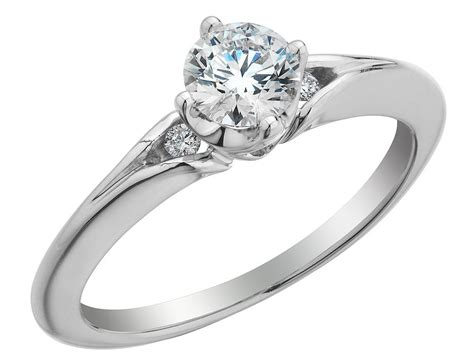 canadian ice diamond solitaire engagement ring 1 2 carat
