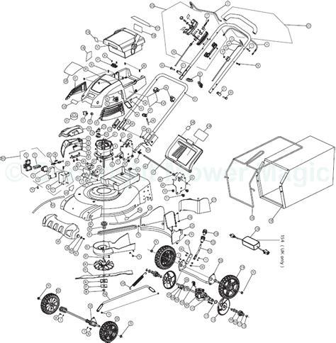 Multi Tool Component Diagram by Ryobi Rlm4852l Spares
