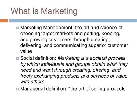 Explain Marketing by Importance Of Marketing