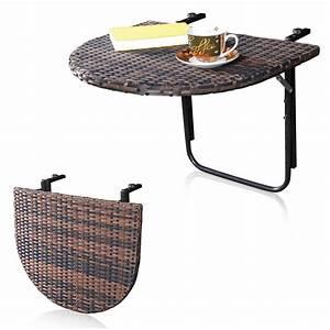 Gartentisch Rattan Braun : rattan balkontisch klappbar braun h ngetisch gartentisch klapptisch tisch schwar ebay ~ Indierocktalk.com Haus und Dekorationen