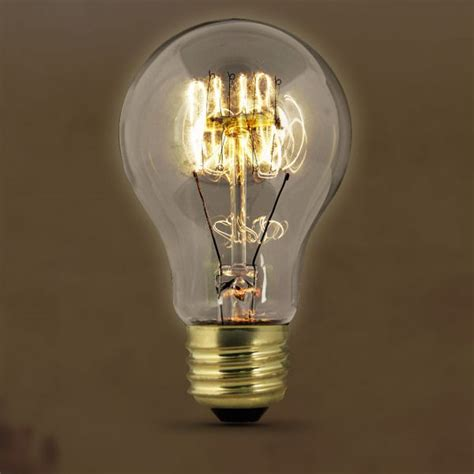 feit vintage style antique edison bulb 60w 120v at19 clear
