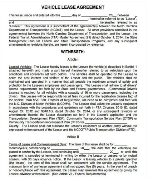 lease agreement templates word docs pages