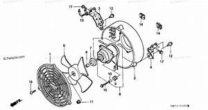 Honda Atv 1997 Oem Parts Diagram For Cooling Fan