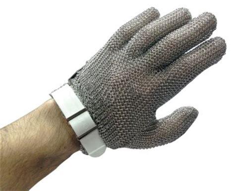 tenue de cuisine pas cher gant en maille inox à sangle de boucher gant cotte de
