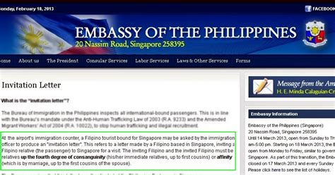 happiness philippine embassy invitation letter
