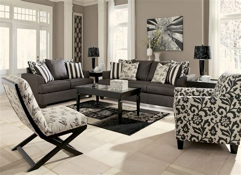 Charcoal Sofa Living Room by Levon Charcoal Living Room Set From 73403
