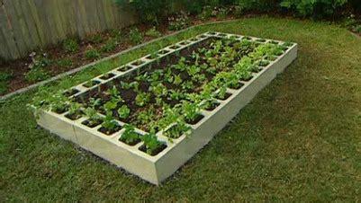 concrete block raised bed gardening on