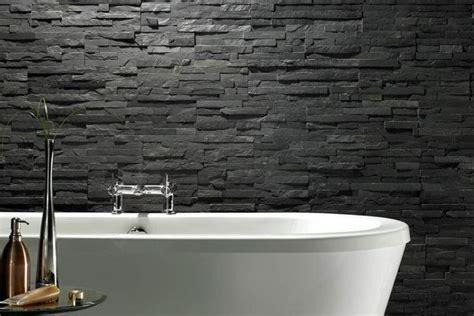 black tile rugged black bathroom idea interior