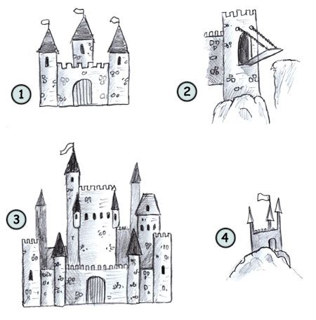 drawing  cartoon castle
