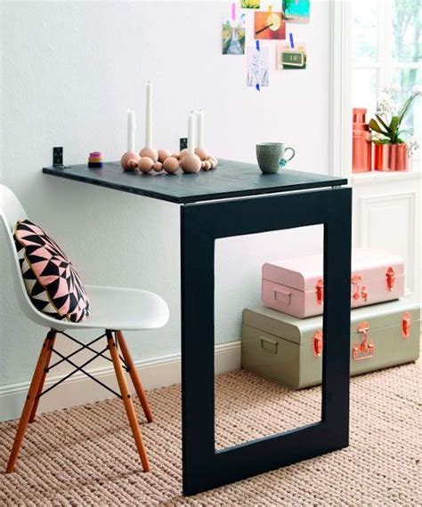 bureau pliant ikea mesa abatible de pared con espejo incluido para espacios
