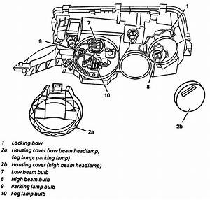 How To Replace The Headlight Bulb H1 For Mercedes 1997 C230