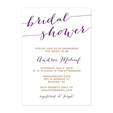 wedding shower rustic script bridal shower invitation crafty pie press