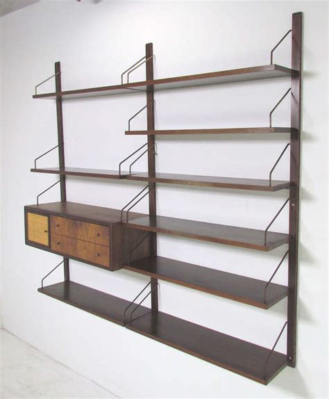 Mounted Shelving Unit by Mid Century Cado Wall Mounted Book Shelving Unit At