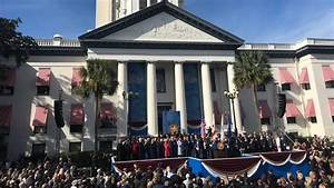 'It Now Falls To Me.' DeSantis Raises Right Hand And ...