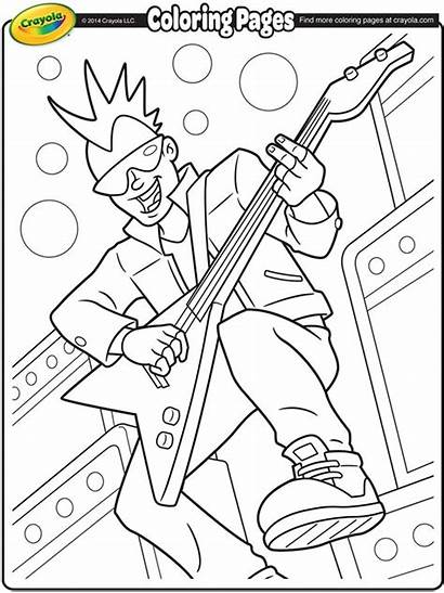 Coloring Band Pages Rock Roll Lead Crayola