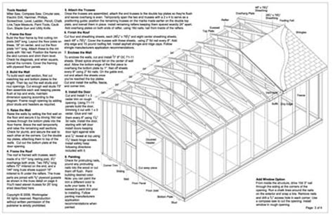 12x20 shed plans pdf 12x20 gable storage shed plans buy it now get it fast ebay