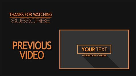 Outro Template 2d Outro Template Simple Clean After Effects Cs6 By