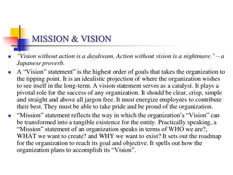 vision statement template vision statement exles alisen berde