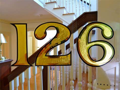 gold leaf address numbers bestdressedsignscom