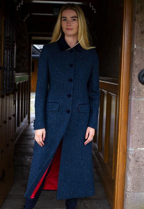 harris tweed ladies long coat