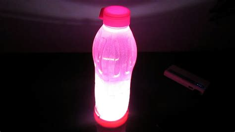 light up water bottle how to make simple light and automatic water bottle