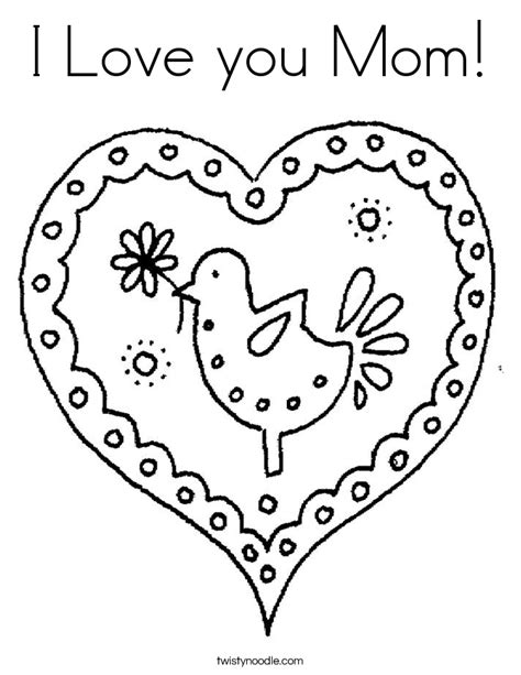 love  mom coloring page twisty noodle