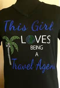 Travel Agent Bling Shirt